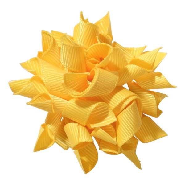 School hair accessories Korker ribbon hair alligator clip yellow