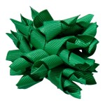 School hair accessories Korker ribbon hair alligator clip green