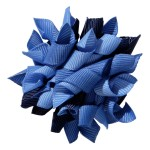 School hair accessories Korker ribbon hair alligator clip dark blue mix