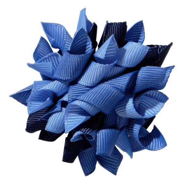 School hair accessories Korker ribbon hair alligator clip dark blue mix