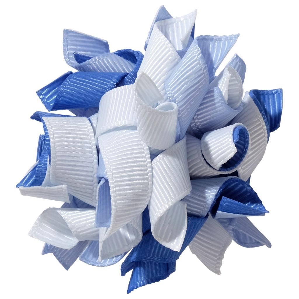 School hair accessories Korker ribbon hair alligator clip sky blue