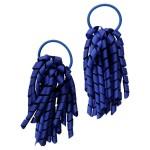 School hair accessories Korker Elastic hair bands royal cobalt blue