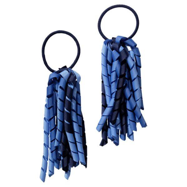 School hair accessories Korker Elastic hair bands dark blue navy mix
