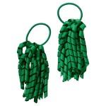School hair accessories Korker Elastic hair bands green