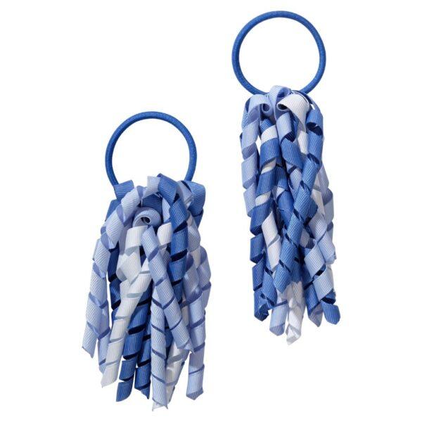 School hair accessories Korker Elastic hair bands sky blue mix