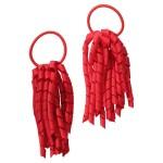 School hair accessories Korker Elastic hair bands red