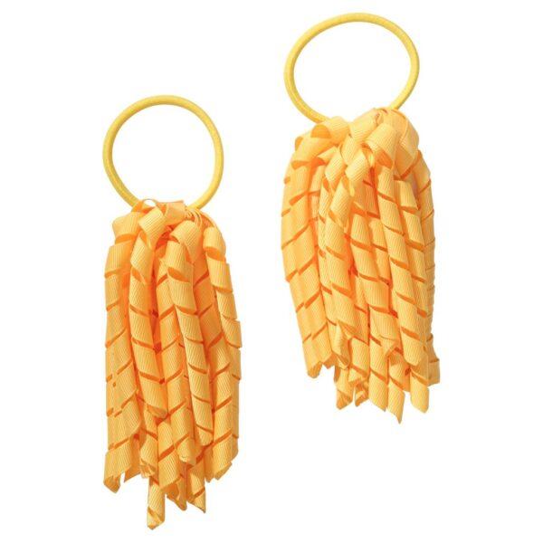 School hair accessories Korker Elastic hair bands yellow