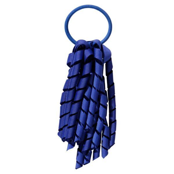School hair accessories Korker Elastic hair tie royal cobalt blue
