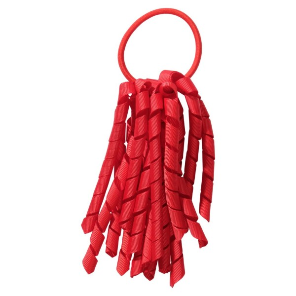 School hair accessories Korker Elastic hair tie Red