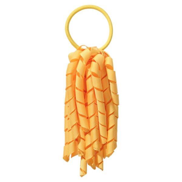 School hair accessories Korker Elastic hair tie Yellow