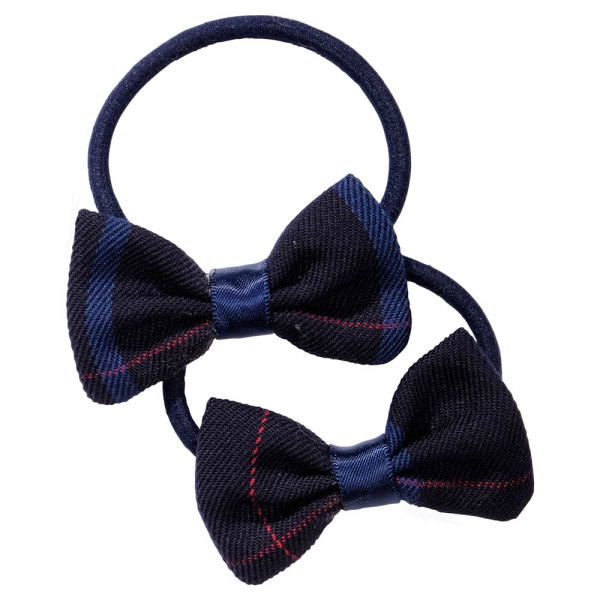 School uniform hair accessories fabric bow elastic