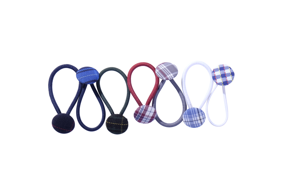 School Uniform fabric covered button