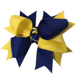 Grosgrain ribbon hair clip