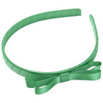 School Hair Accessories green bow headband