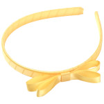 School Hair Accessories yellow bow headband