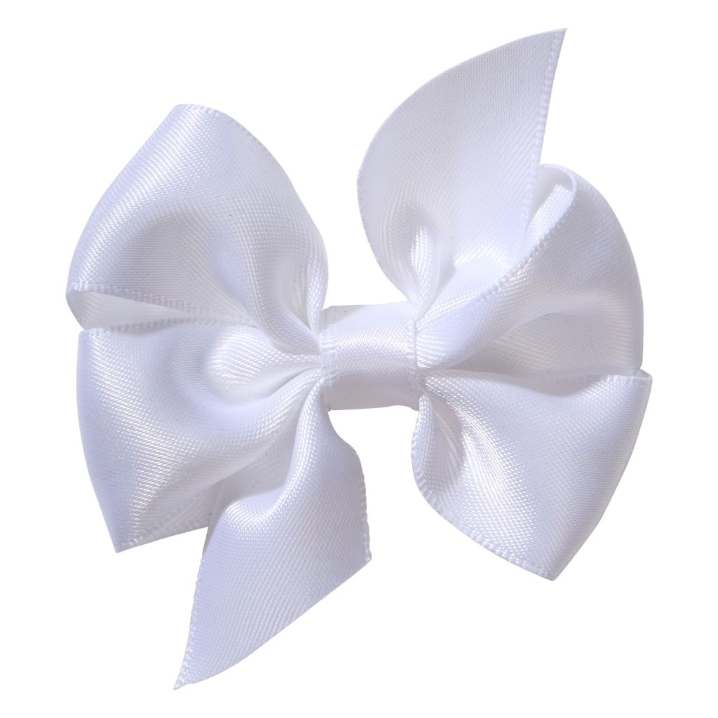 School Hair Accessories bow clip white