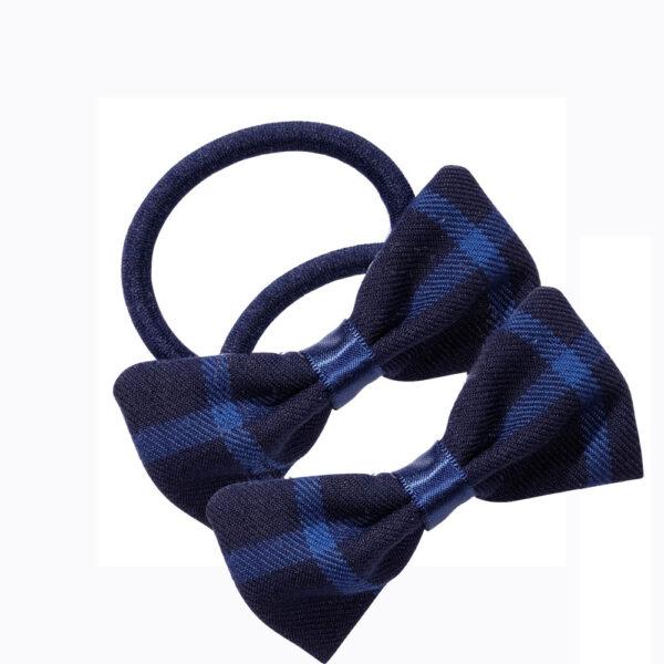 School uniform hair accessories fabric bow elastic
