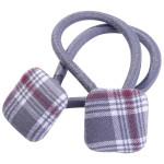 School hair accessories uniform fabric square button elastic