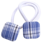 School hair accessories uniform fabric square buttons