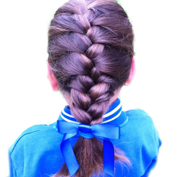 School Hair accessories braid ribbon bow