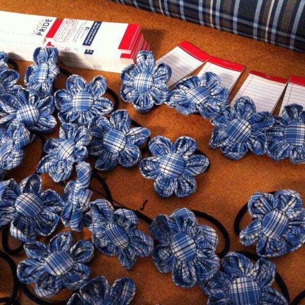 School Hair Accessories Australian handmade flower elastics