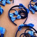 School Hair Accessories Uniform Fabric pack with mini elastics