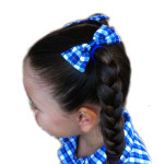 School hair accessories bow elastics