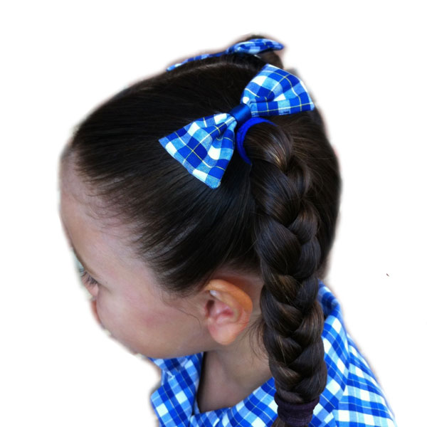 School hair accessories bow elastics