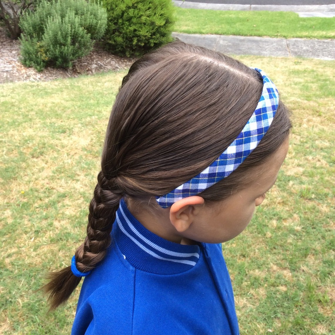 hair band and plait