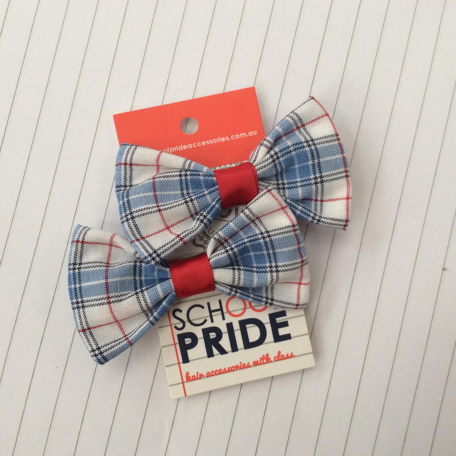mini bow clip for school dress