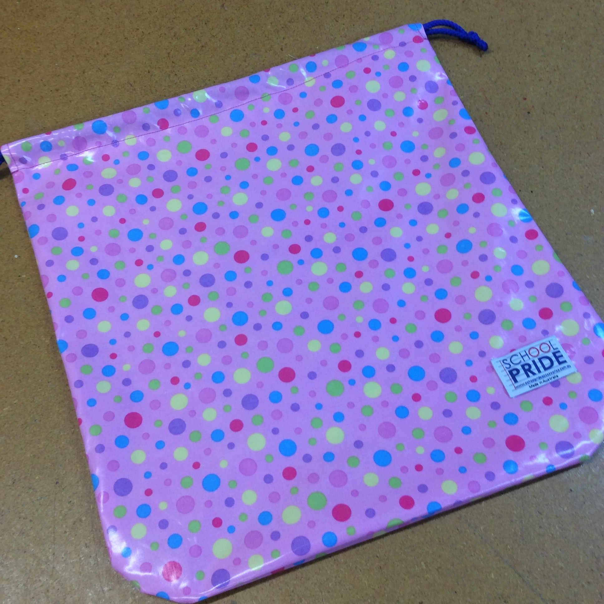 School drawstring book bag