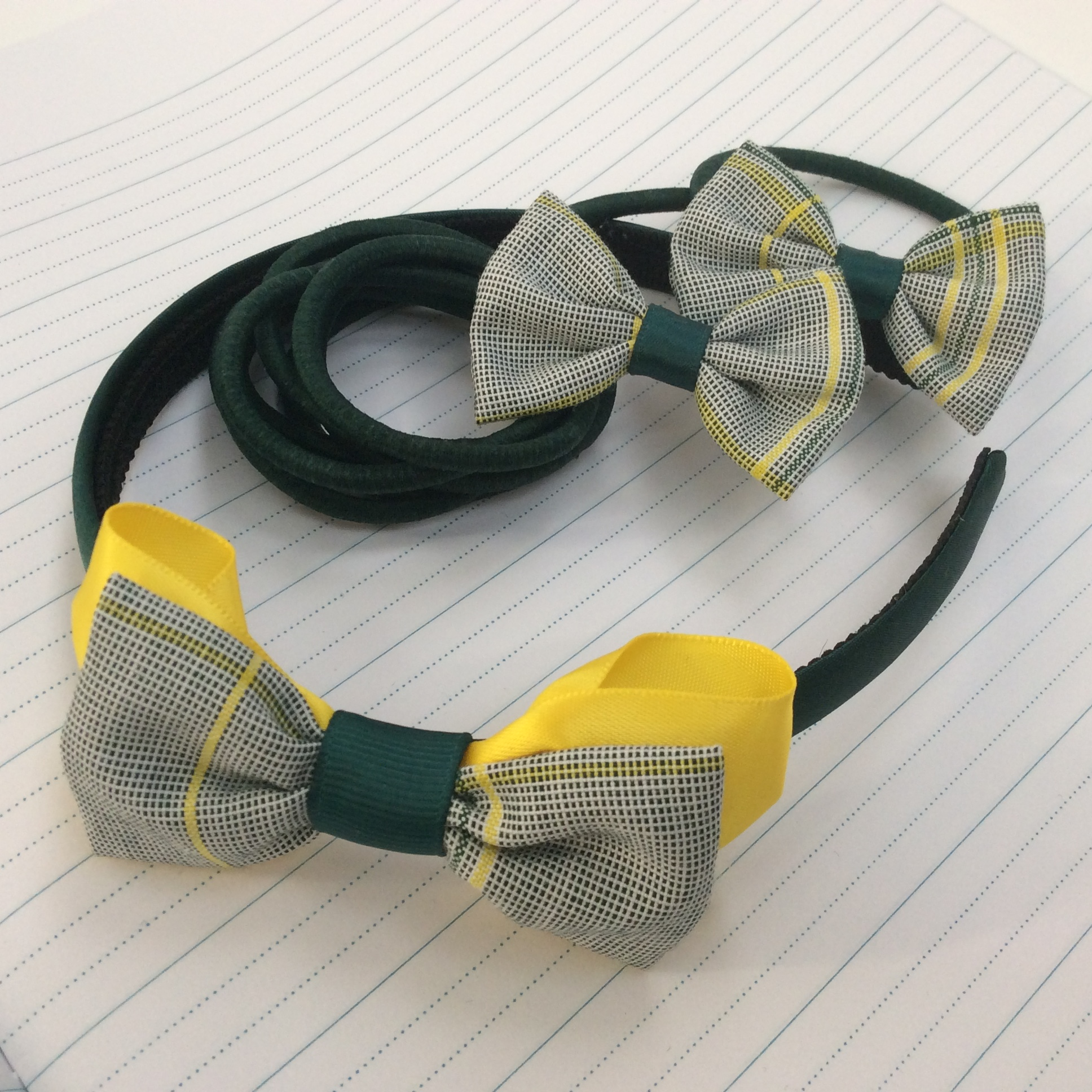 School mini bow elastics
