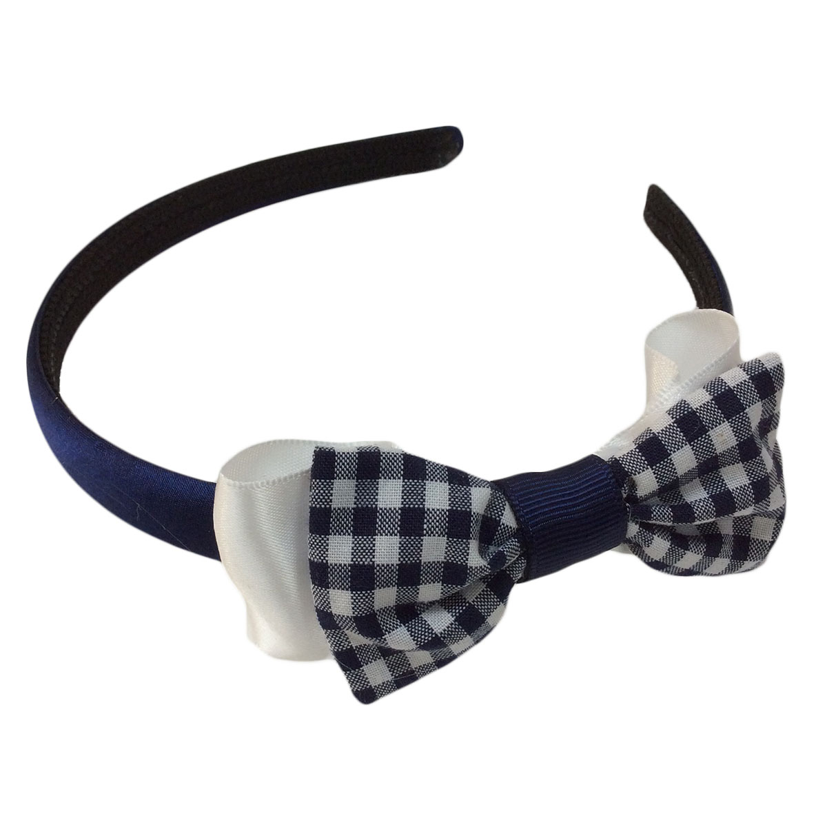 School dress fabric double bow headband