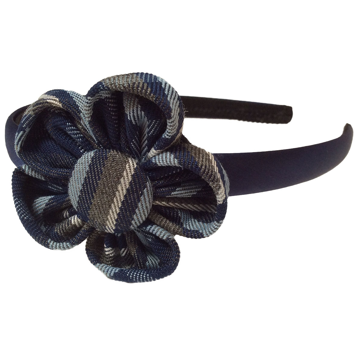 Winter school uniform flower hair accessory